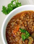 Суп із сочевиці та грибів