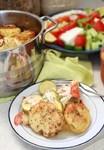 Запечені кабачки з картоплею