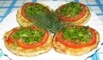 Закуска з кабачків з часником і помідорами