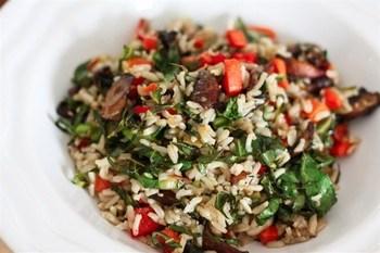 Ароматний рис з овочами і грибами