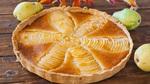 Пирог с грушами и миндальным кремом