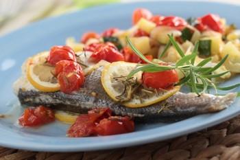 Рыба с томатами и итальянскими травами