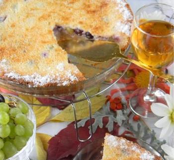 Виноградный пирог-суфле