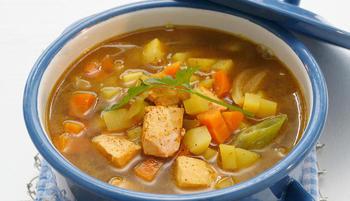 Суп из сёмги и овощей