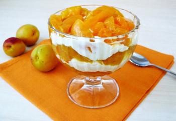 Сирковий крем з абрикосами