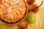 Творожный пирог с грушей