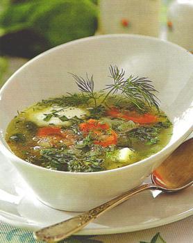 Курячий суп зі шпинатом