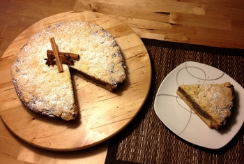 Пиріг з горіховою начинкою
