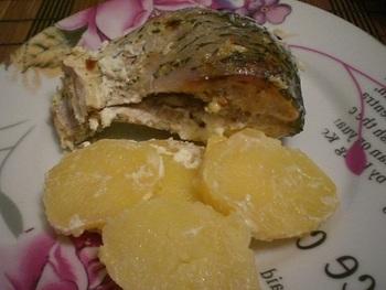 """Рыба с картофелем, запечённая """"в рукаве"""""""
