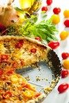 Пирог из кабачков, томатов и паприки