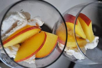 Персиковий безе-десерт