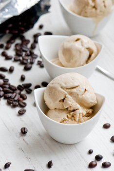 Легкий бананово-кавовий сорбет
