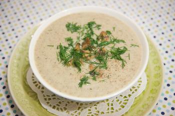 Картопляний суп-пюре з грибами
