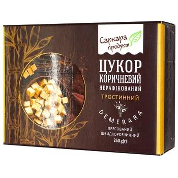 Сахар Саркара продукт коричневый нерафинированный тростниковый прессованный 250г - купить, цены на ЕКО Маркет - фото 1