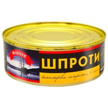 Morski Sprats in Oil 240g - buy, prices for CityMarket - photo 1
