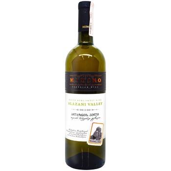 Вино Mimino Алазанская долина белое полусладкое 11-12% 0,75л - купить, цены на ЕКО Маркет - фото 1