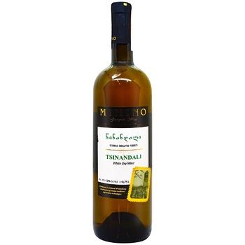 Вино Mimino Цинандалі біле сухе 10-13% 0,75л - купити, ціни на ЕКО Маркет - фото 1