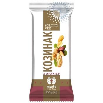 Zolotyy vik Kozynak of peanuts 100g - buy, prices for Auchan - photo 1