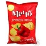 Potato chips Macho Premium with paprika taste 70g Ukraine