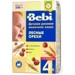 Каша дитяча Бебі Лісові Горіхи рисова молочна суха швидкорозчинна 5-6 порцій з 4 місяців 200г Словенія