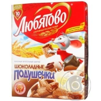 Сухой завтрак Любятово шоколад с шоколадом с начинкой 250г Россия