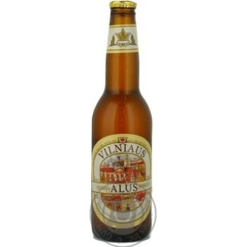 Пиво Вільнюс Алус світле нефільтроване пастеризоване скляна пляшка 5.2%об. 330мл Литва - купити, ціни на Novus - фото 6
