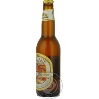 Пиво Вільнюс Алус світле нефільтроване пастеризоване скляна пляшка 5.2%об. 330мл Литва - купити, ціни на Novus - фото 3