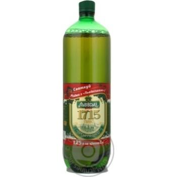 Beer Lvivske 1715 light 4% 1250ml plastic bottle Ukraine