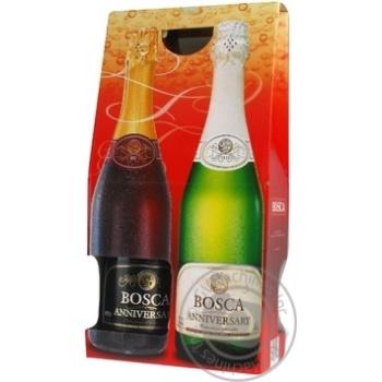 Набір напій винний ігристий BOSCA біл.н/сол.0,75л+ч н.сол.0,75л