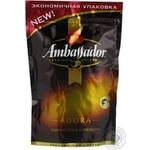 Natural instant sublimated coffee Ambassador Adora 80g Russia