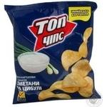 Чіпси Топ чіпс цибулі зі смаком сметани 22г Україна
