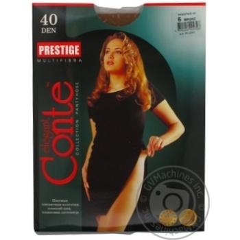 Tights Conte Prestige bronze polyamide for women 40den 6size Belarus