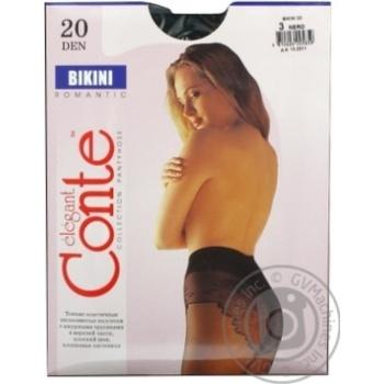 Колготы Conte Bikini 20 Den р.3 nero шт - купить, цены на Novus - фото 2