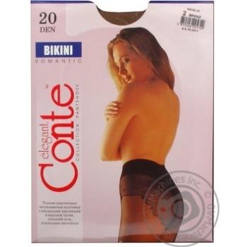 Колготы Conte Bikini 20 Den р.2 bronz шт - купить, цены на Novus - фото 7