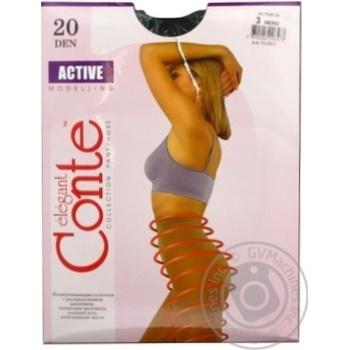 Колготы женские Conte Active 20ден р.3 Nero - купить, цены на СитиМаркет - фото 7