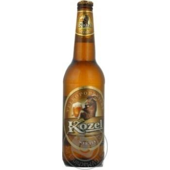Пиво Велкопоповицкий Козел светлое пастеризованное стеклянная бутылка 3.7%об. 500мл Украина