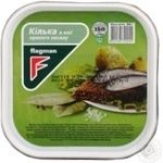 Flagman in oil with spices fish sprat 300g
