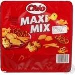 Набор соленого печенья Chio Maxi Mix 250г - купить, цены на Novus - фото 3