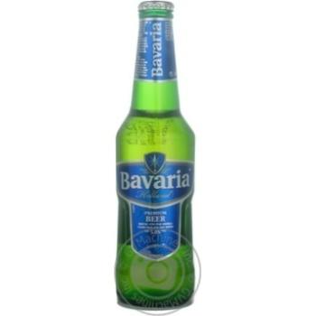 Пиво Бавария светлое 5%об. стеклянная бутылка 330мл Нидерланды