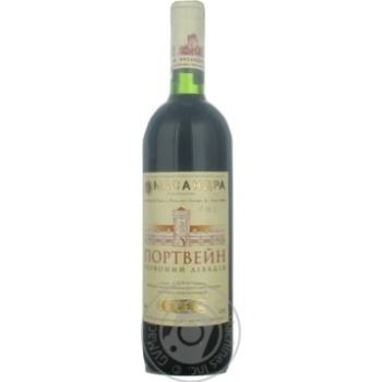 Вино красное Масандра Портвейн Красный Ливадия крепленое крепкое специального типа марочное 18.5% стеклянная бутылка 750мл Украина