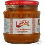 Vegetables Smachno squash canned 480ml glass jar