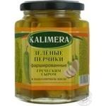 Перец Калимера сырный зеленый фарширований 285г стеклянная банка Греция