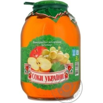 Нектар Вінні Виноград,Яблукос/б 3л