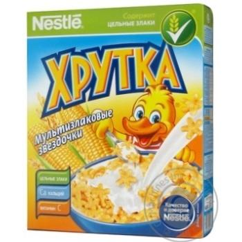 Dry breakfast Khrutka corn 190g cardboard box Russia