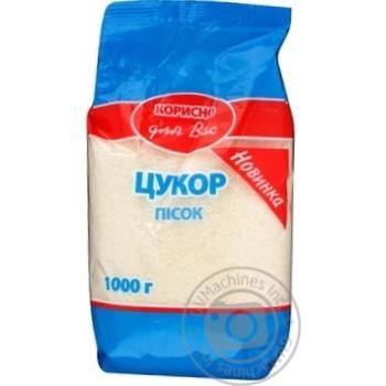 Granulated sugar Korysno dlya vas 1000g Ukraine