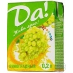 Nectar Da! grape grapes 200ml tetra pak Ukraine