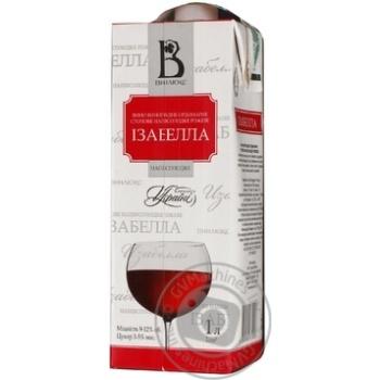 Вино розовое Винлюкс Изабелла виноградное ординарное столовое полусладкое 12% тетрапакет 1000мл Украина - купить, цены на Novus - фото 8