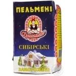Meat dumplings Drygalo Siberian with beef 500g Ukraine