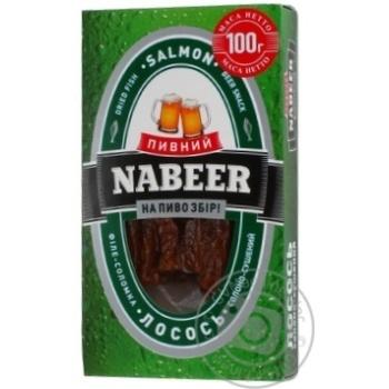 Лосось Пивний Nabeer філе-соломка солоно-сушена 100г - купити, ціни на CітіМаркет - фото 6