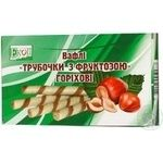 Wafer rolls Ekoproduct with nuts on fructose 200g Ukraine